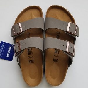 Birkenstock Arizona Stone Gray Sandals 39